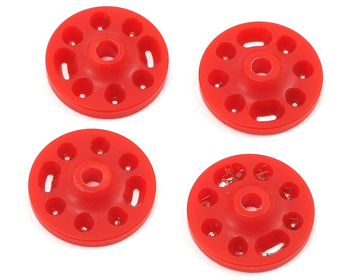 Competition Suspension Mugen MBX7R 16mm Squared V-Port Piston Set (Red) (4)