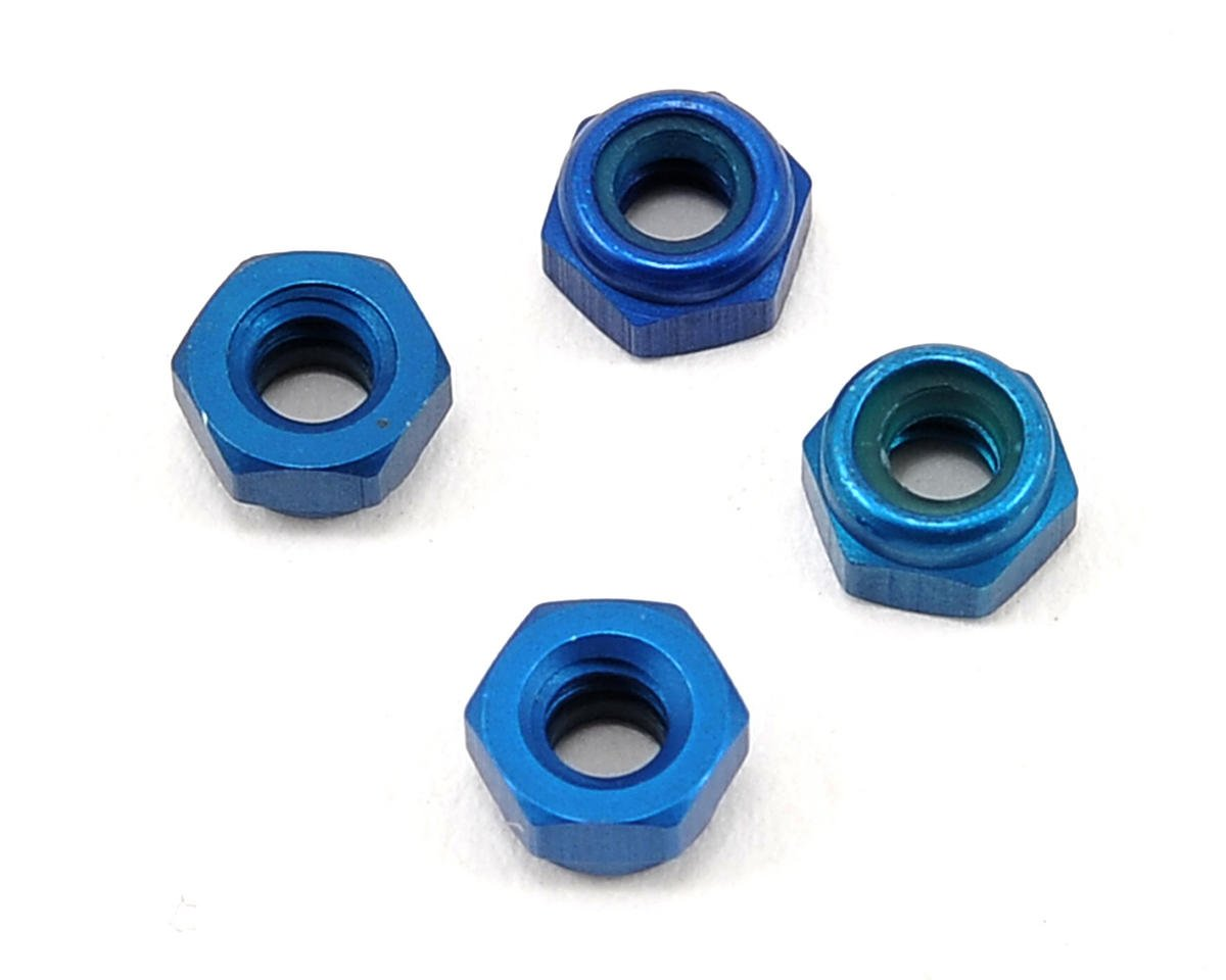 Competition Suspension 4-40 Pro Clicker Mini Locknut (Blue) (4)