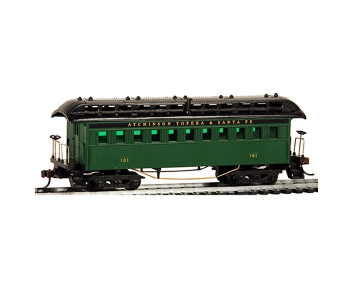 HO 1890 Wood Passenger Coach, SF/Green