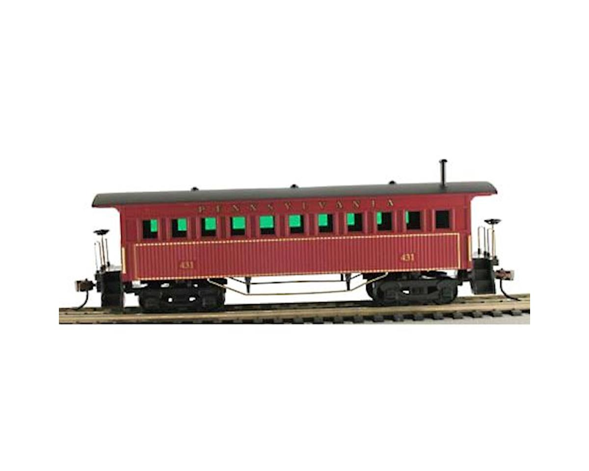 Model Power Old Time Wood Passenger Coach, PRR (HO Scale)