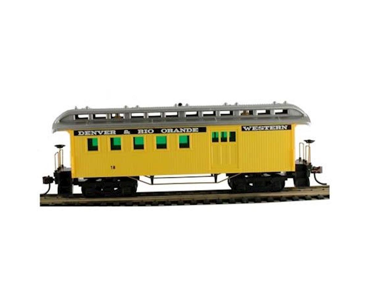 CSM 1890 Wood Passenger Combine D&RG HO