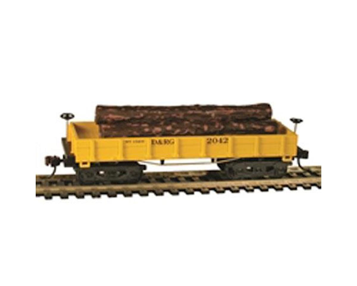 CSM HO Old Time Wood Log Car, D&RGW