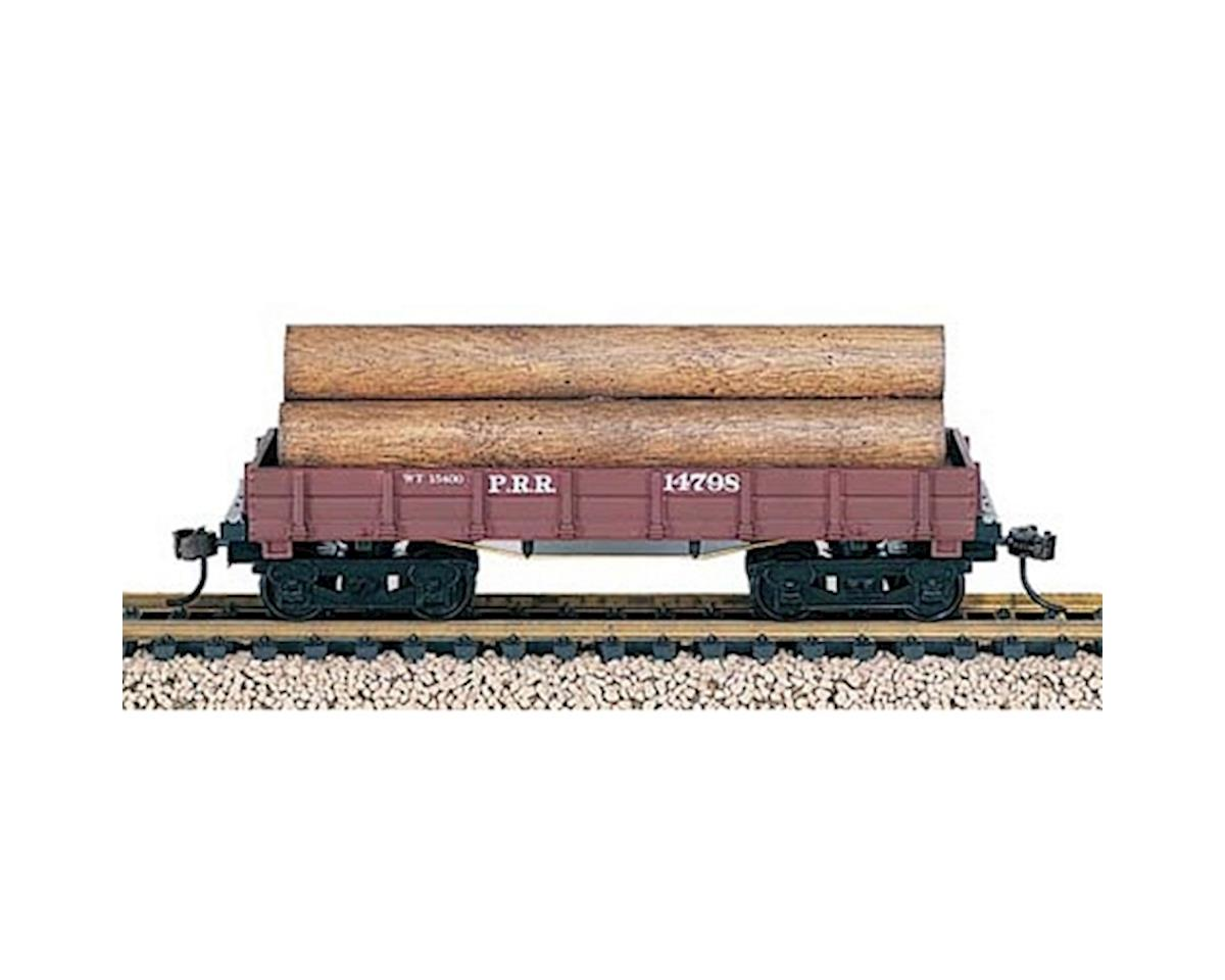 HO Old Time Wood Log Car, PRR