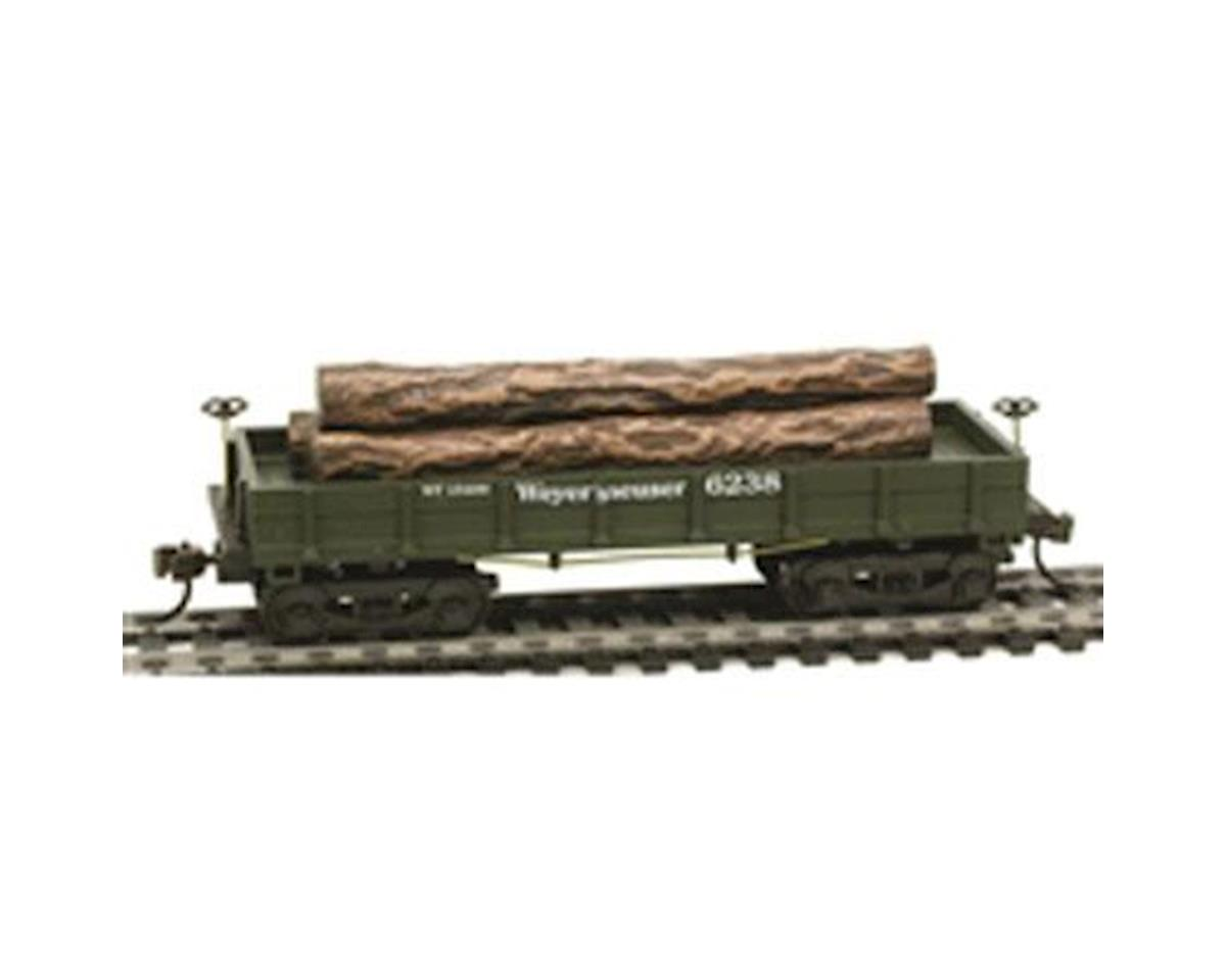 CSM HO OLD TIME WOOD LOG CAR, WEYE