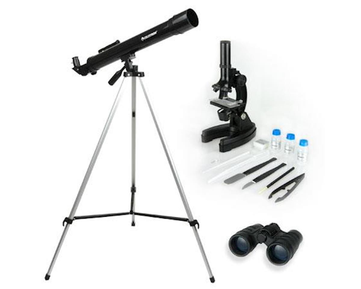 Celestron International Telescope, Microscope & Binocular Science Kit