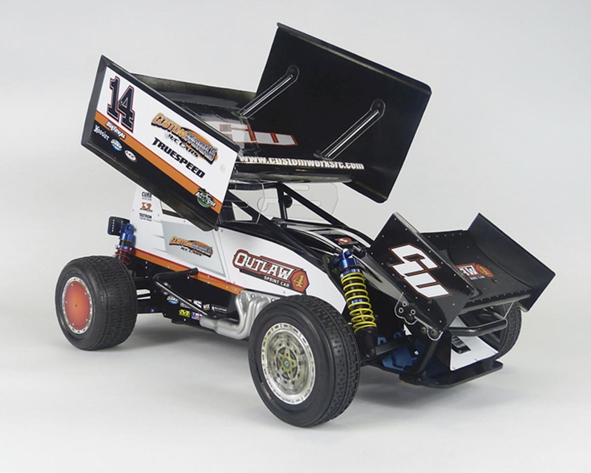 Custom Works Outlaw 4 Pro Comp 1 10 Electric Dirt Oval Sprint Car Kit Csw0724 Cars Trucks Amain Hobbies