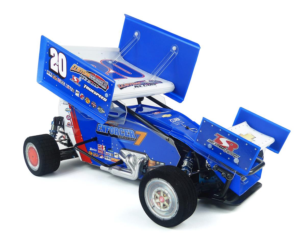 Enforcer 7 Gearbox 1/10th Electric Sprint Car Dirt Oval Kit by Custom Works