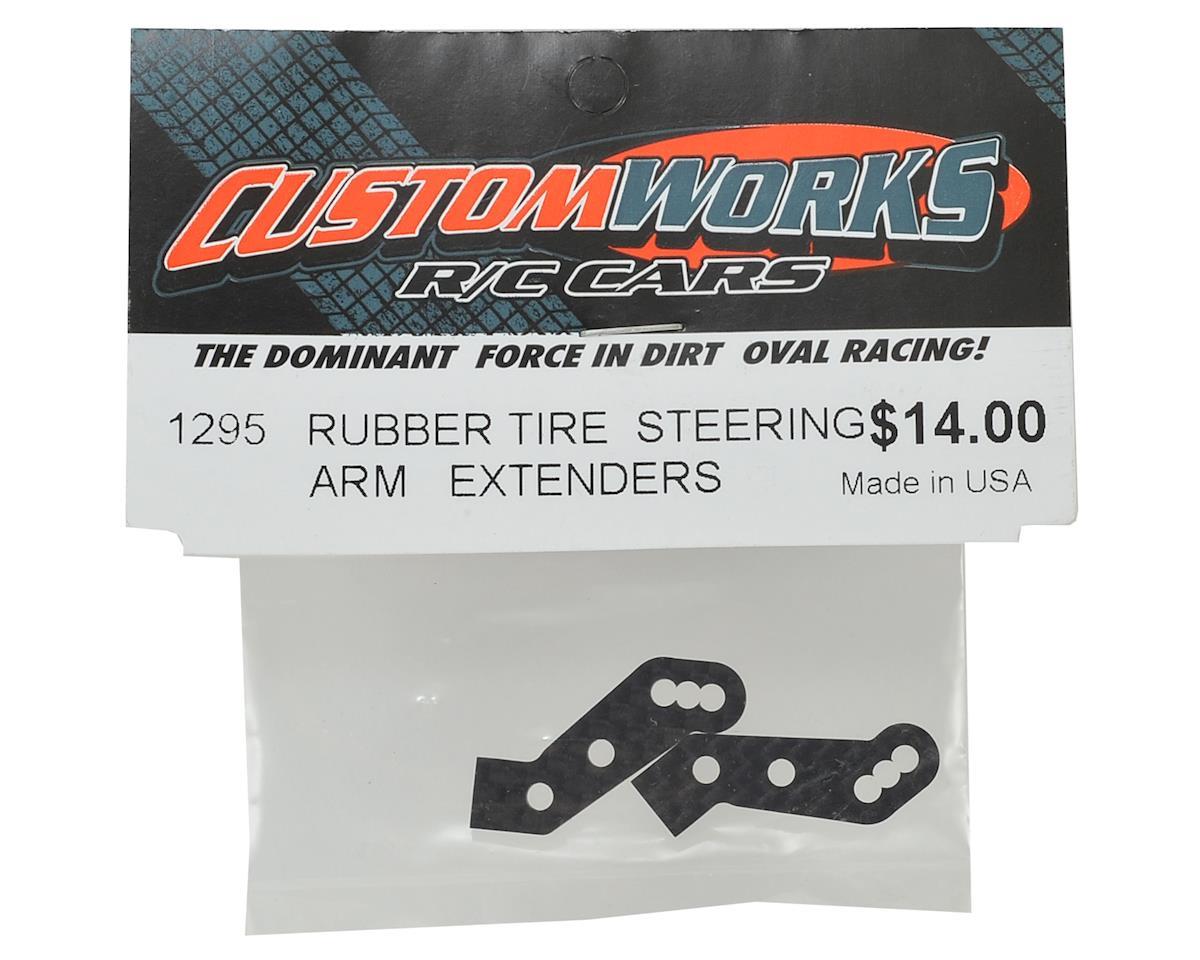 Custom Works Rubber Tire Steering Arm Extenders