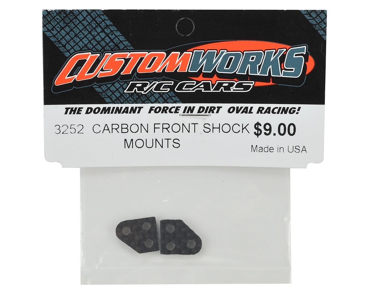 Custom Works Carbon Front Shock Mounts (2)