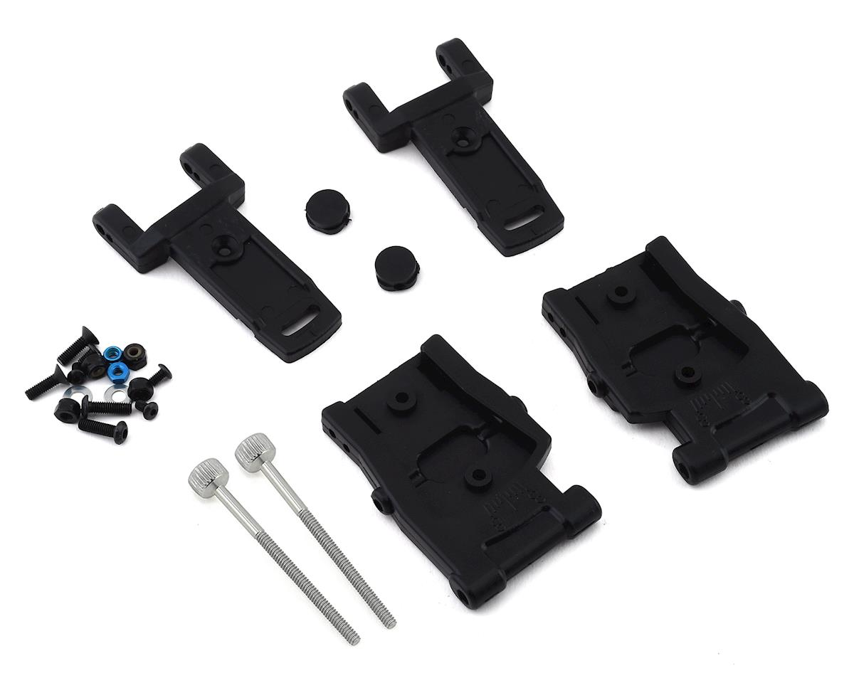 Custom Works RC10B5/RC10B6 Dirt Oval Adjustable Toe Rear A-Arm Kit (Team Associated RC10 B5M Factory Lite)