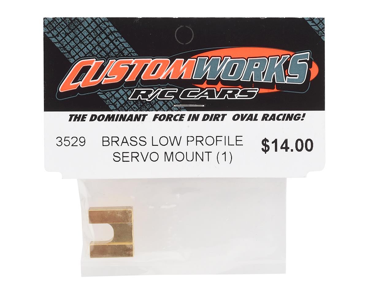Custom Works Brass Low Profile Servo Mount