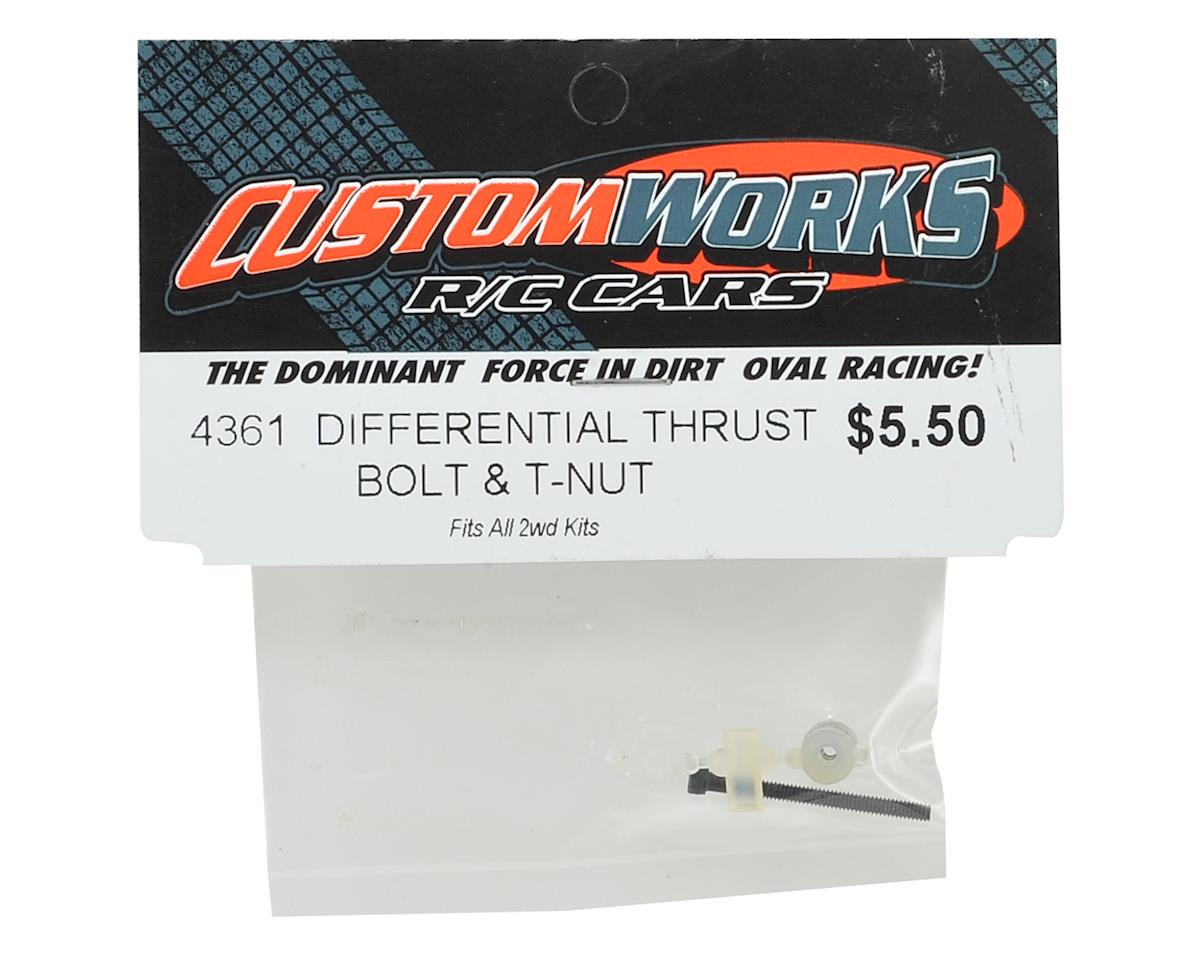 Custom Works Differential Thrust Bolt, Cover & T-Nut