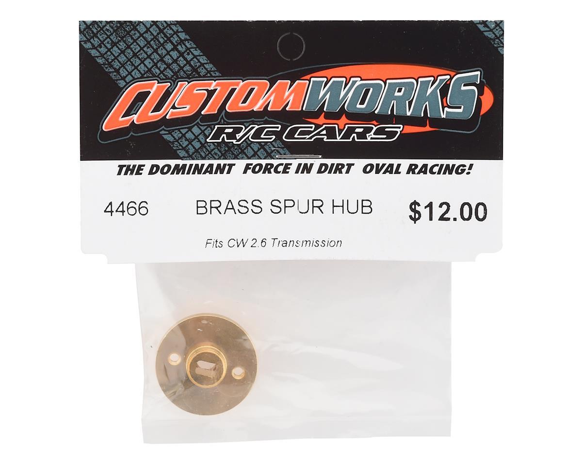 Custom Works Outlaw 4 Brass Spur Hub