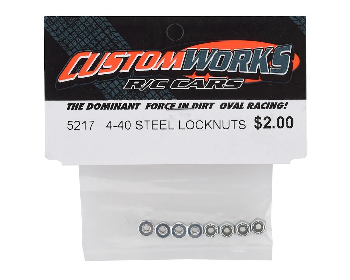 Custom Works 4/40 Steel Locknut (8)
