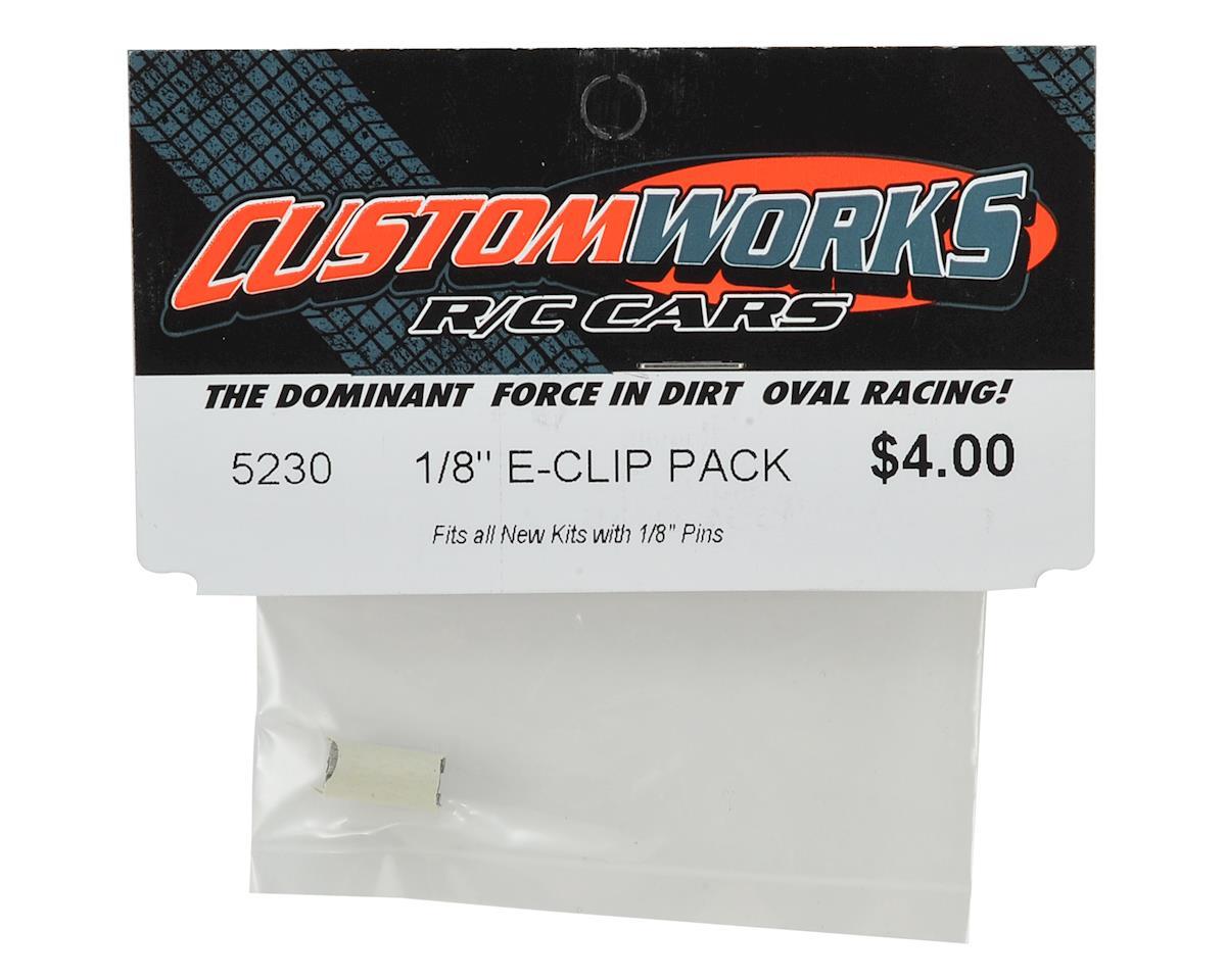 "Custom Works 1/8"" E-Clips (24)"