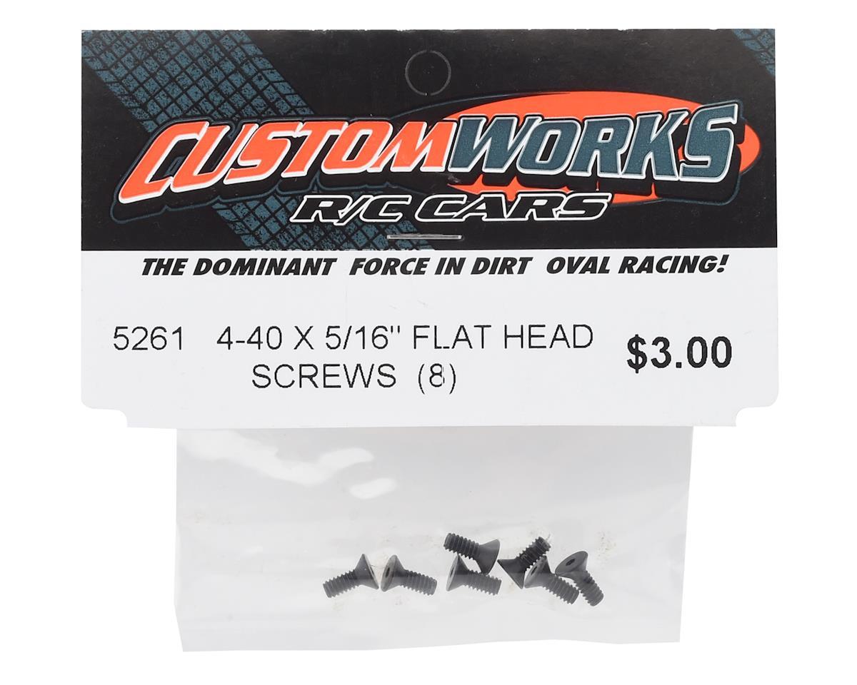 "Custom Works 4-40x5/16"" Flat Head Screws (8)"