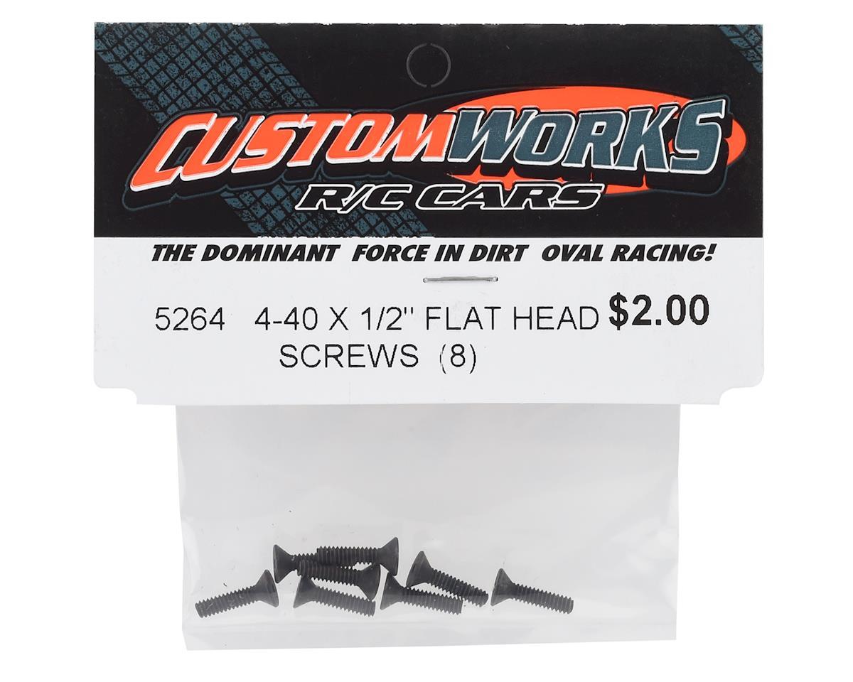 "Custom Works 4-40x1/2"" Flat Head Screws (8)"