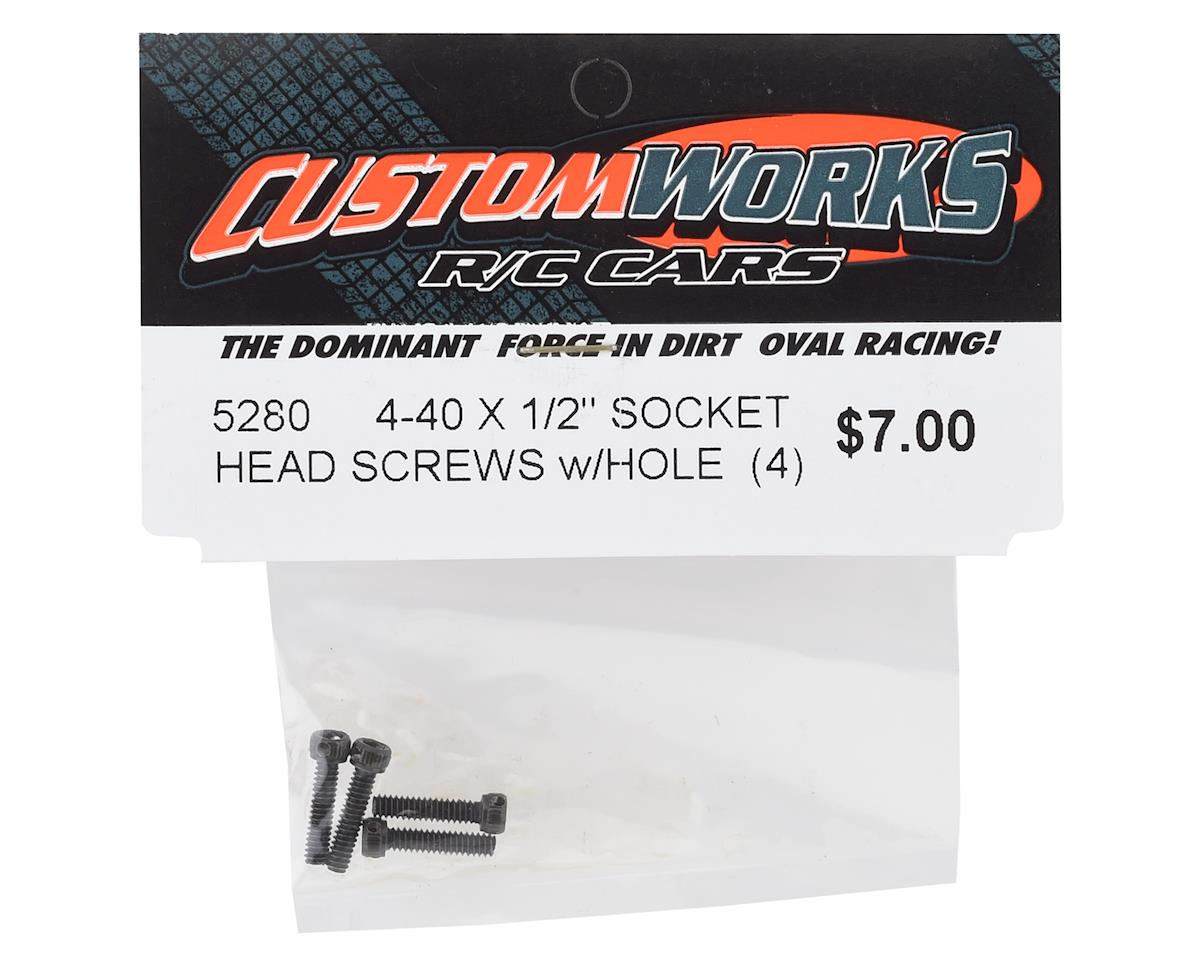 "Custom Works 4-40x1/2"" Socket Head Screws (4)"