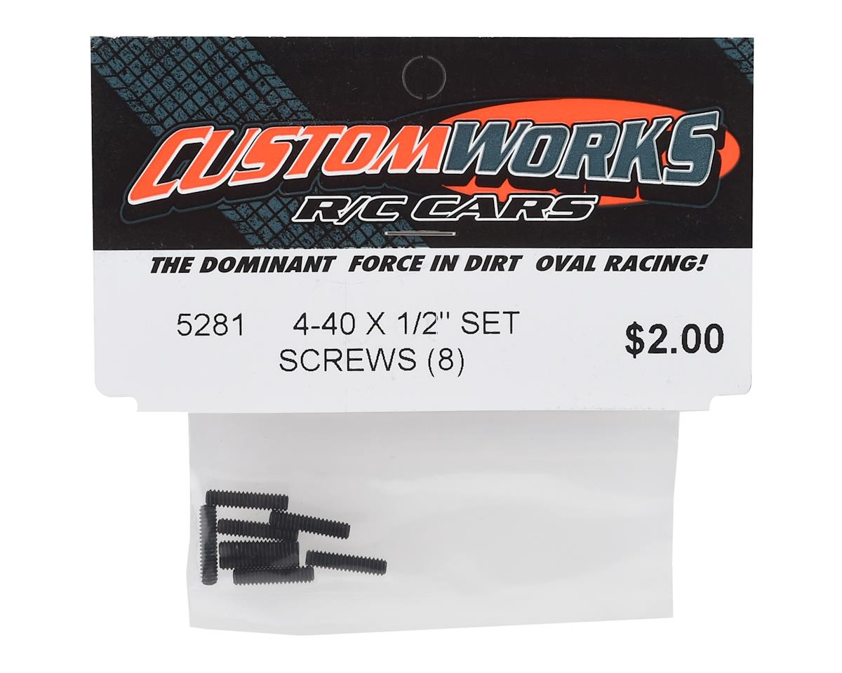 "Custom Works 4-40x1/2"" Set Screws (8)"