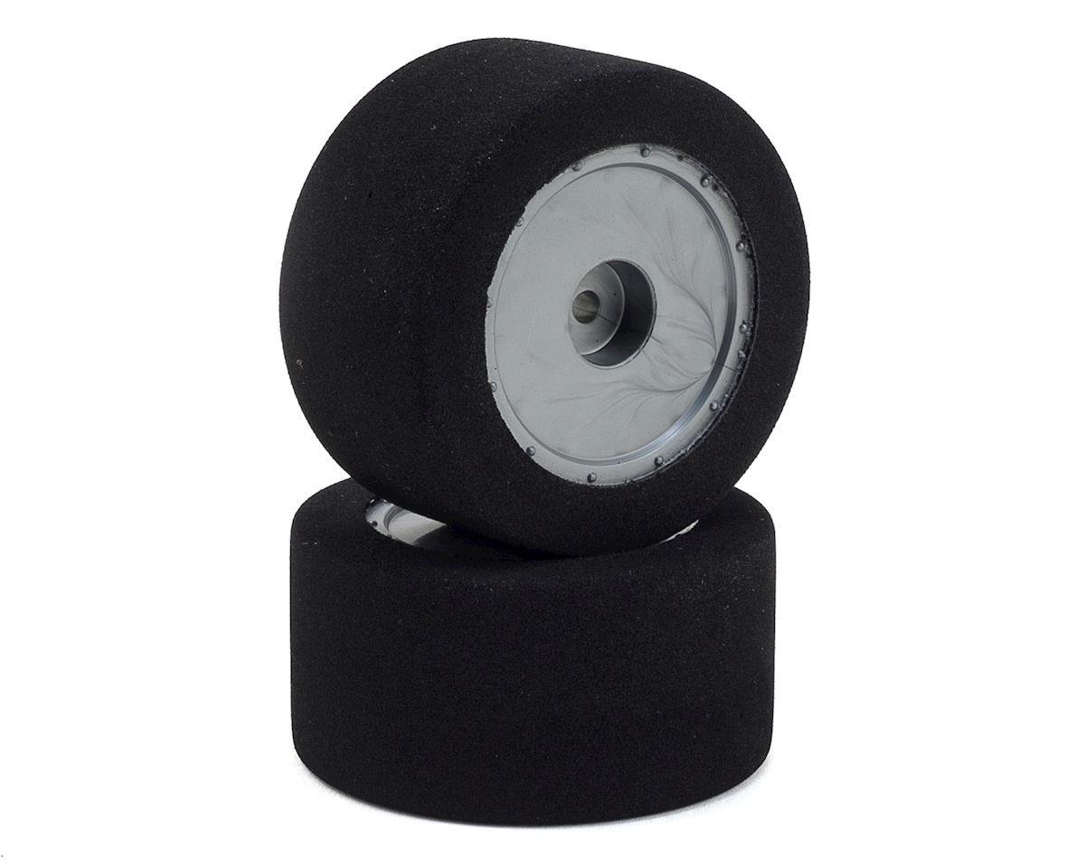 Custom Works Foam Pre-Mounted Dirt Oval Rear Tires (2) (R3)
