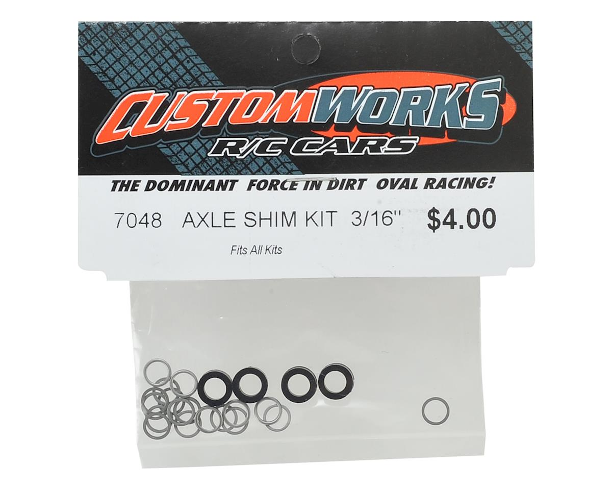 "Custom Works 3/16"" Axle Shim Kit"