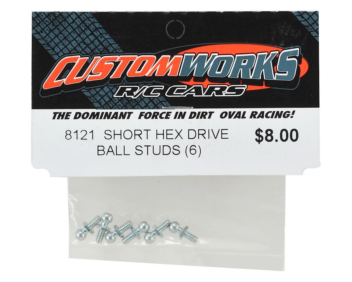Custom Works Short Hex Drive Ball Stud (6)