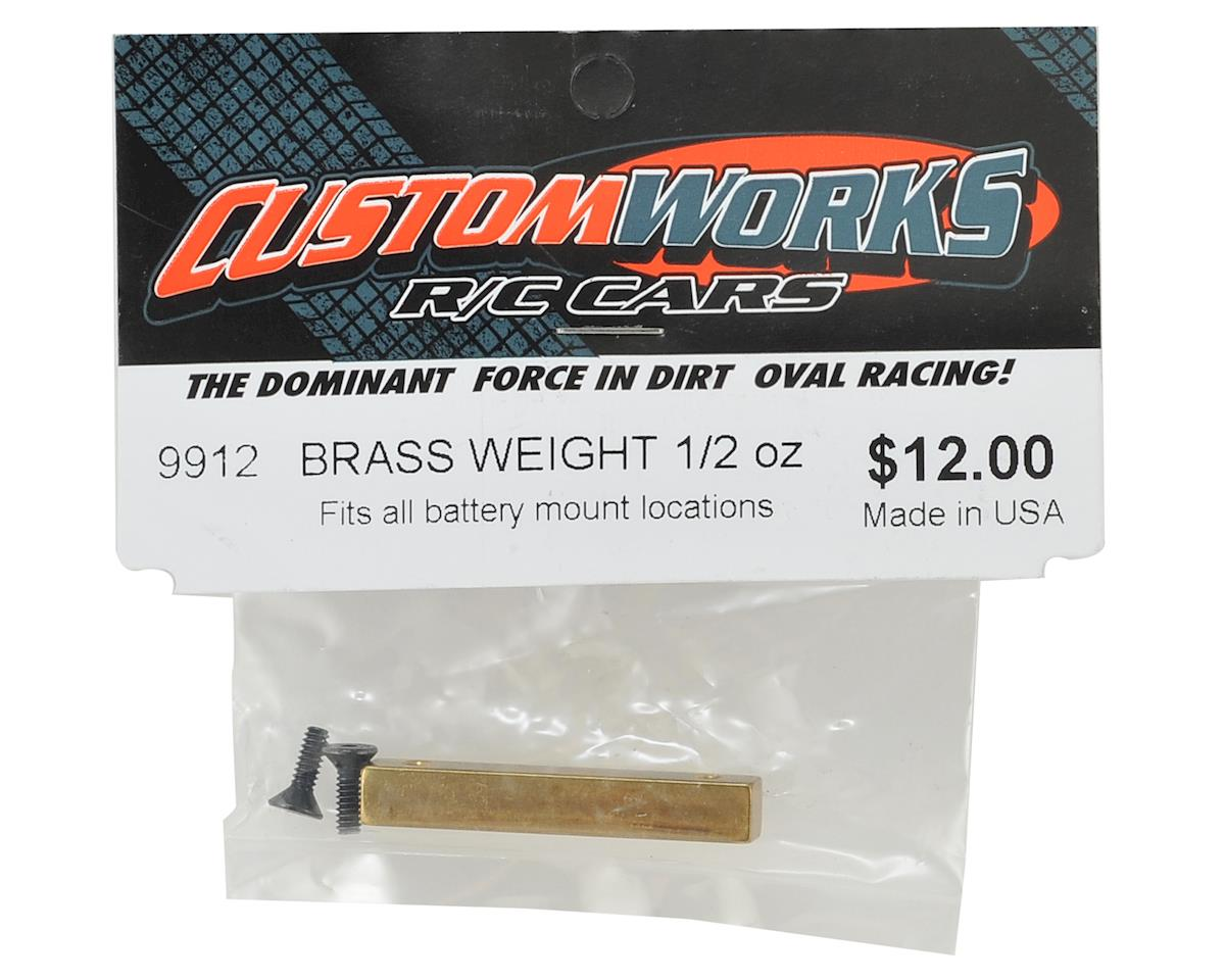 Custom Works Brass Chassis Weight (1/2 Oz.)