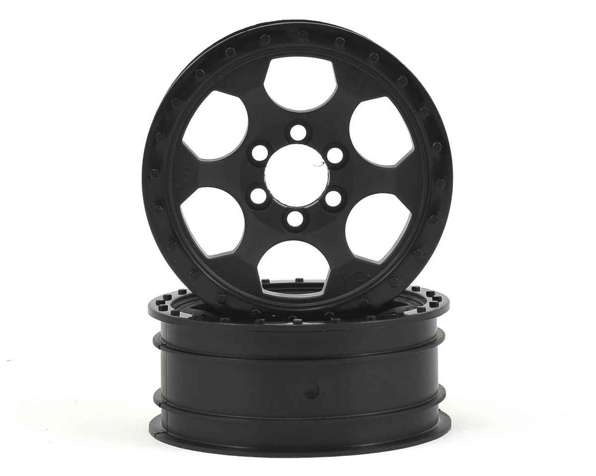 Crawler Innovations Double Deuce 6 Bolt 2.2 Crawler Wheel (Black) (2) (1.0 Wide)