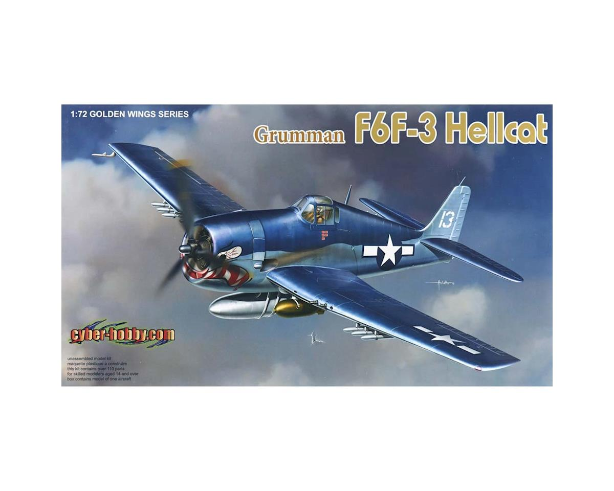 Cyber Hobby Plastic Models 1/72 Grumman F6F-3 Hellcat, Wing Tech Series
