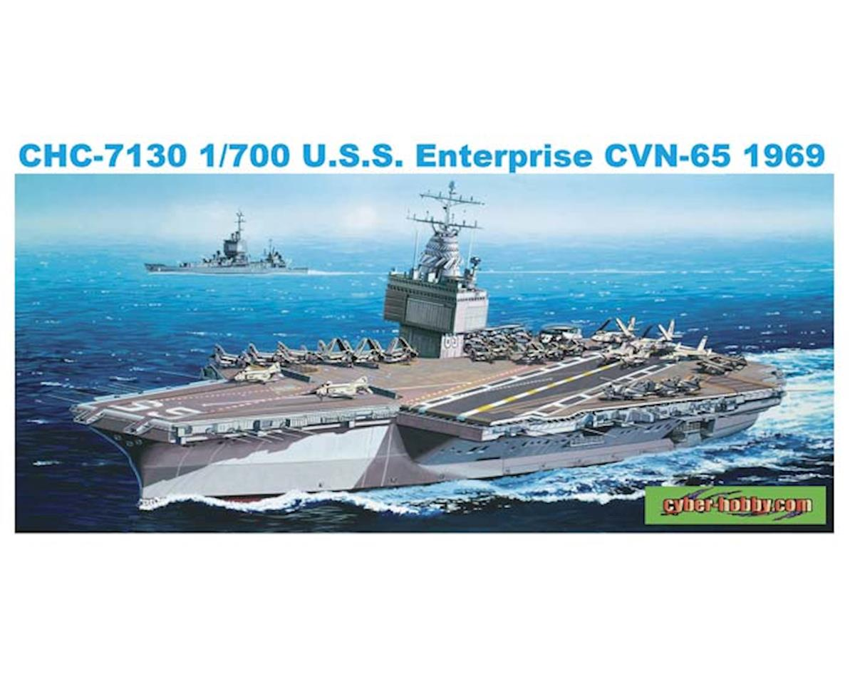 7130 1/700 USS Enterprise CVN-65 1969 by Cyber Hobby Plastic Models