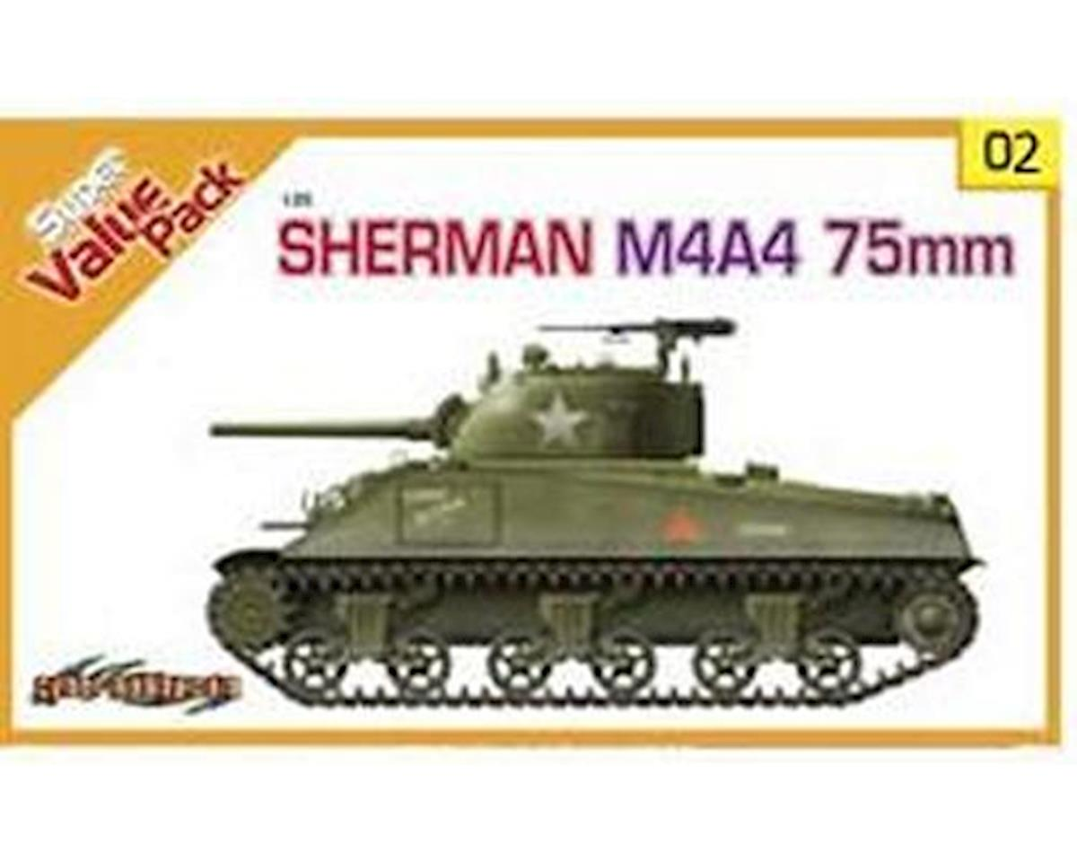 9102 1/35 Sherman M4A4 75mm w/DS Track/US Tank Crew by Cyber Hobby Plastic Models