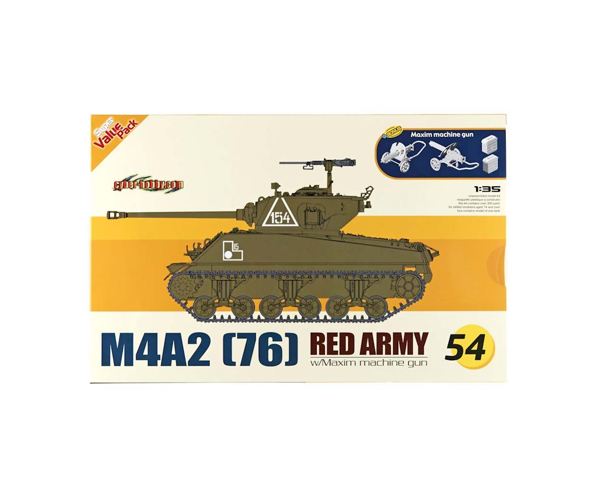 Cyber Hobby Plastic Models 1/35 M4A2 Red Army + Maxim Machine Gun