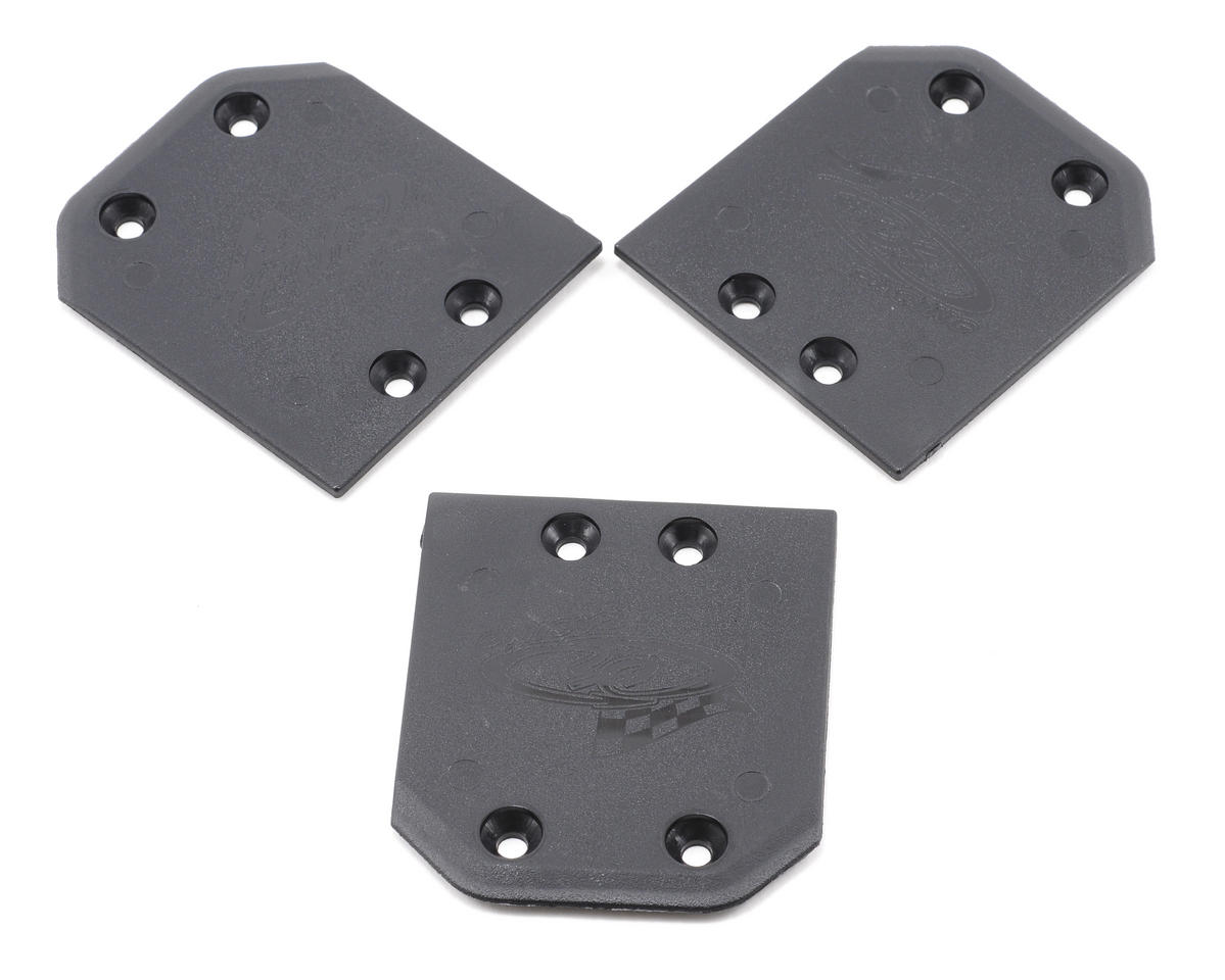 DE Racing Rear Skid Plates (3) (OFNA/HoBao Hyper 8.5)