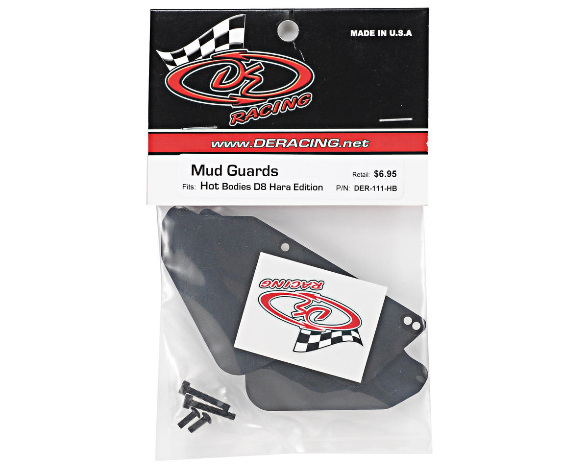 DE Racing Hot Bodies D8 Hara Buggy Mud Guards