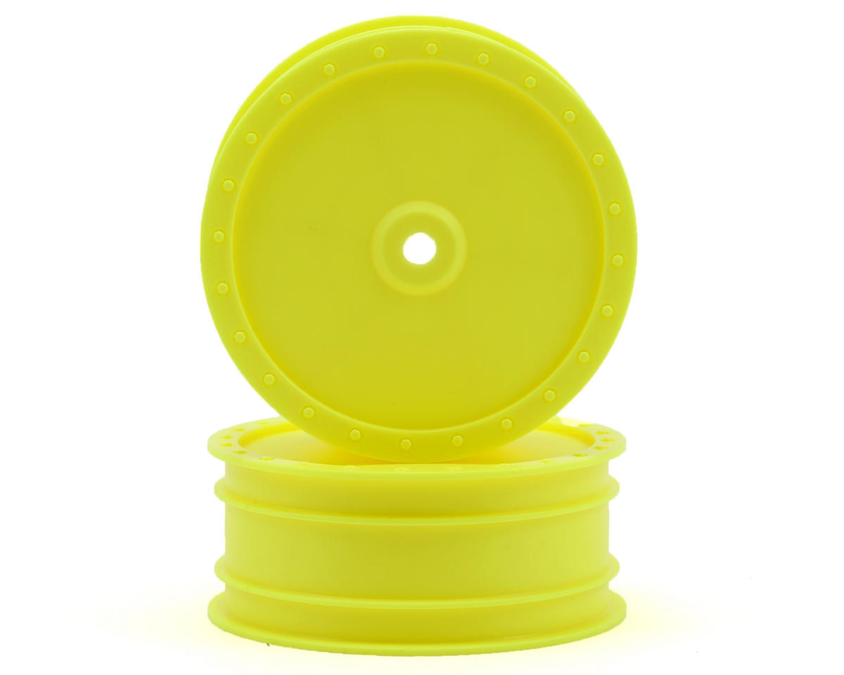 "DE Racing 9.5mm Hex ""Borrego"" 2.2 4WD Front Buggy Wheels(2) (B44.2) (Yellow)"