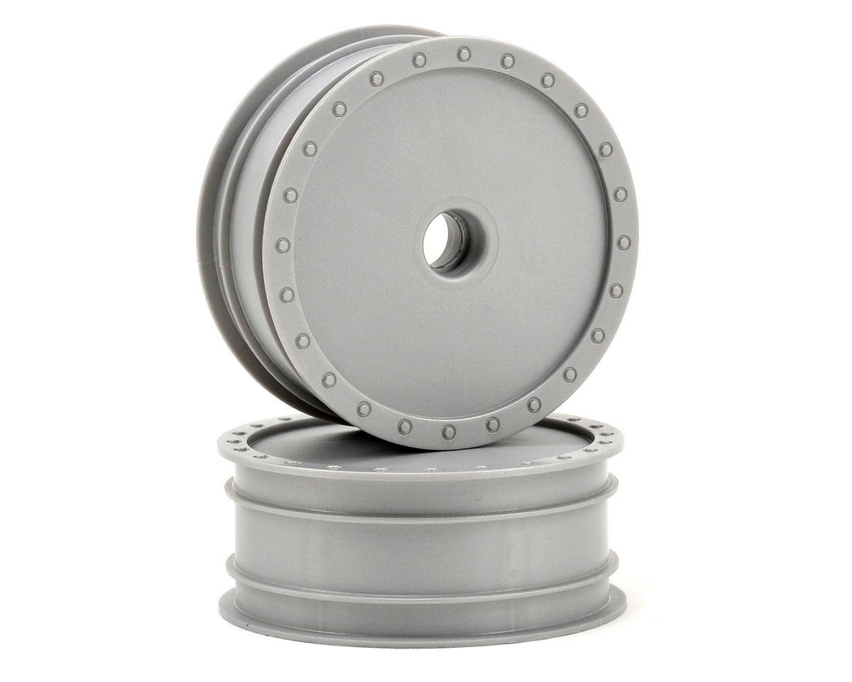"DE Racing ""Borrego"" 2.2 1/10 Buggy Front Wheels(2) (B4) (Silver) (Pins)"