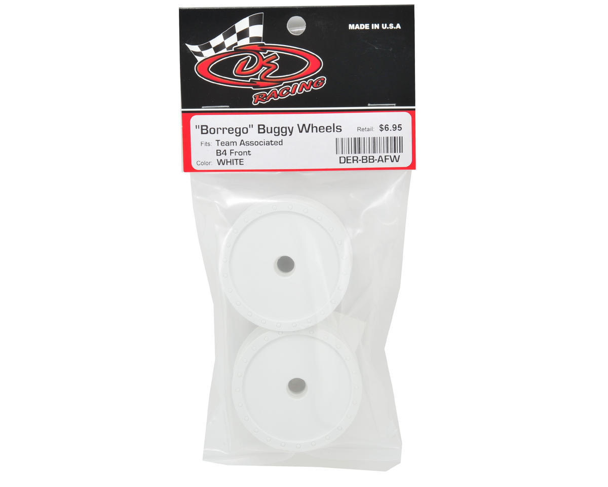 "DE Racing ""Borrego"" 2.2 1/10 Buggy Front Wheels(2) (B4) (White) (Pins)"