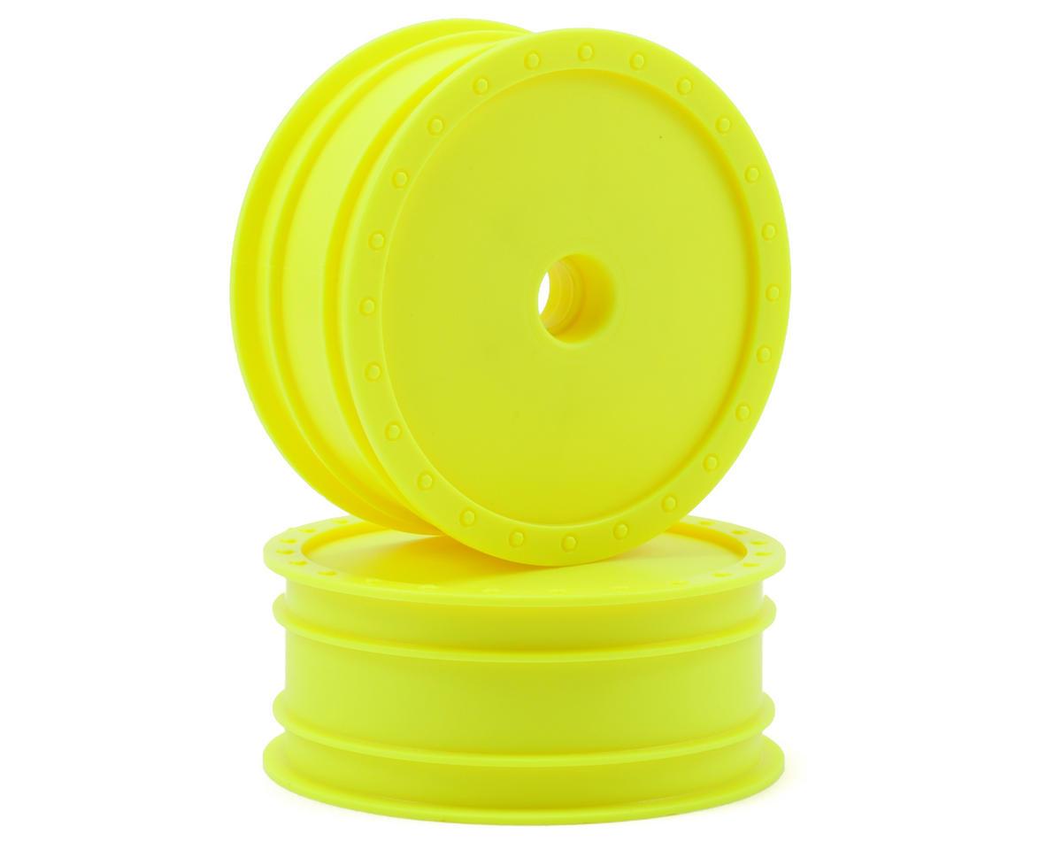 "DE Racing ""Borrego"" 2.2 1/10 Buggy Front Wheels(2) (B4) (Yellow) (Pins)"