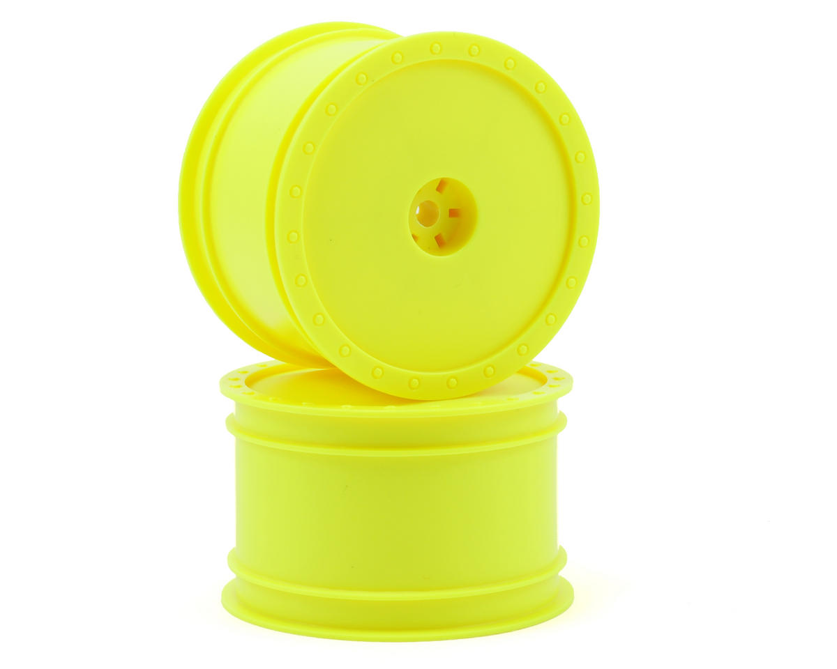 """Borrego"" 2.2 1/10 Buggy Rear Wheels(2) (B4/B44) (Yellow) (Pins) by DE Racing"