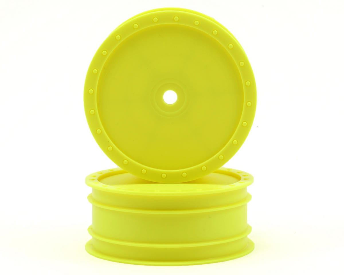"DE Racing 14mm Hex ""Borrego"" 2.2 4WD Front Buggy Wheels (2) (DEX410) (Yellow)"