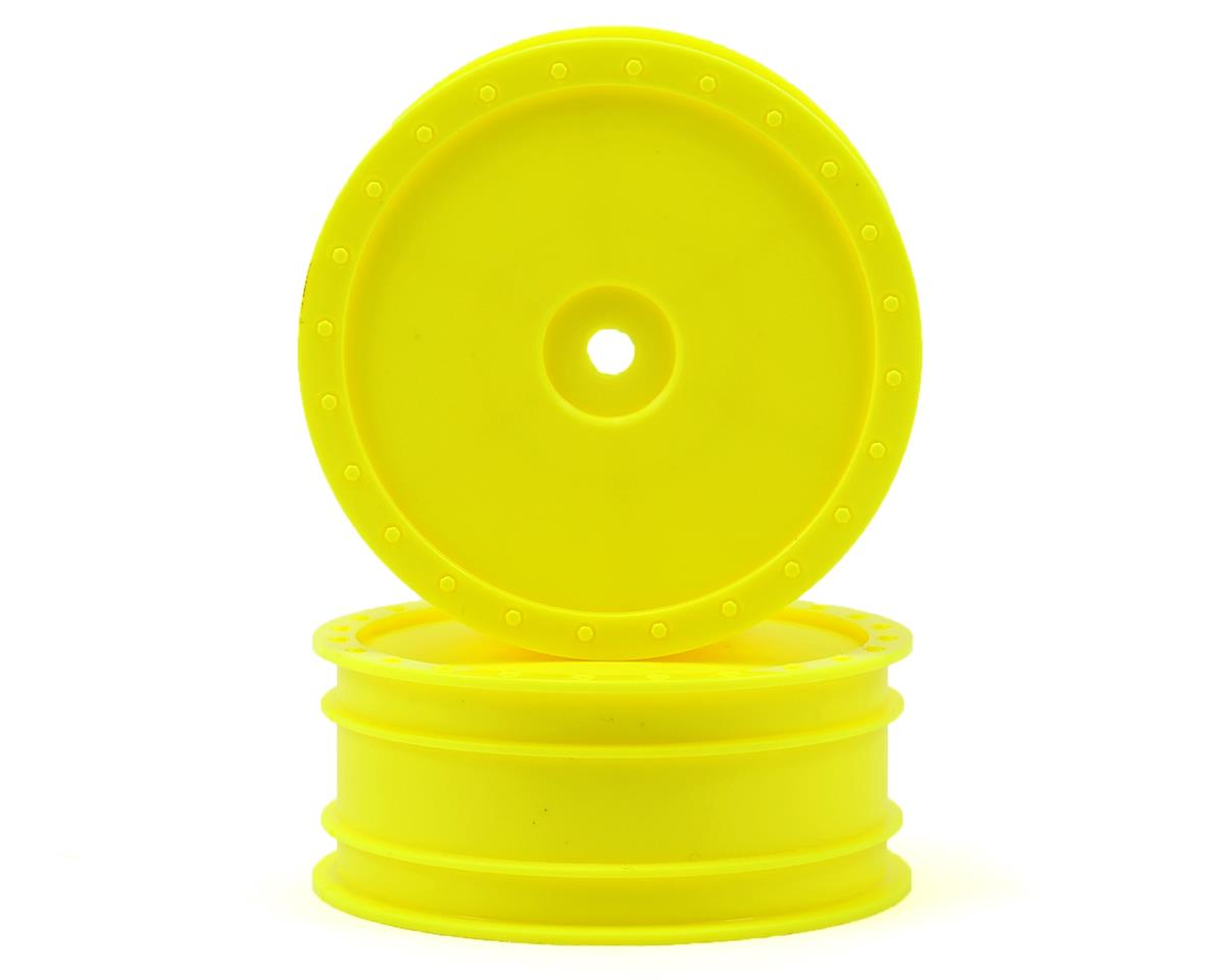 "DE Racing 12mm Hex ""Borrego"" 2.2 4WD Front Buggy Wheel (2) (ZX6) (Yellow)"