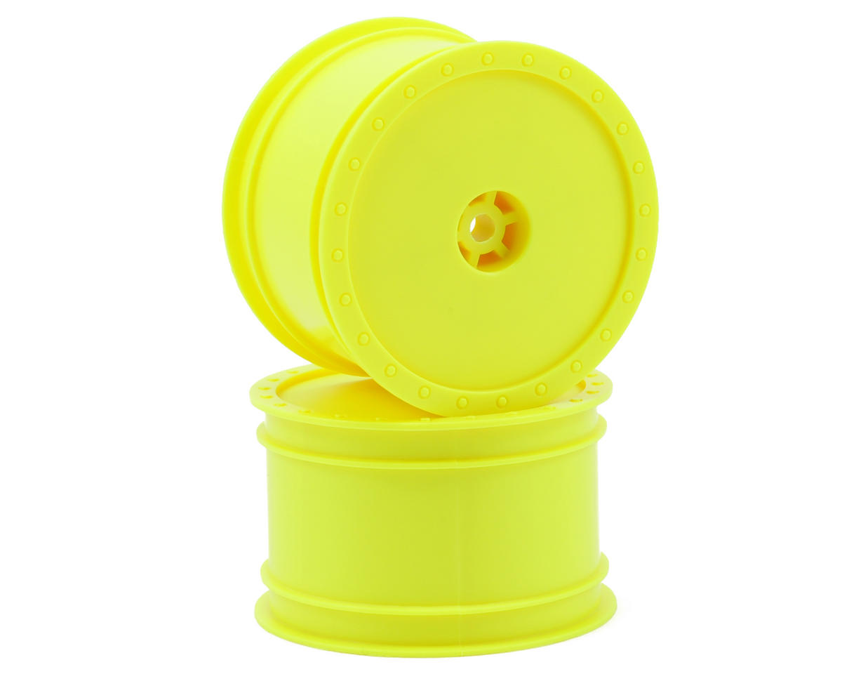 "12mm Hex ""Borrego"" 2.2 1/10 Buggy Rear Wheels (2) (B6/RB6) (Yellow) by DE Racing"