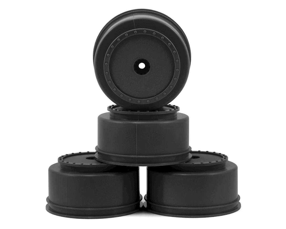 "DE Racing 12mm Hex ""Borrego"" Short Course Wheels w/3mm Offset (Black) (4) (SC5M)"