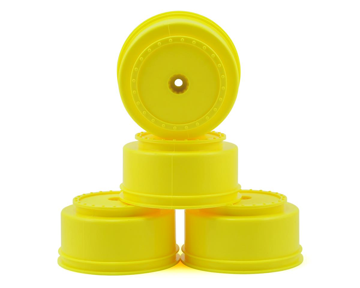 "DE Racing 12mm Hex ""Borrego"" Short Course Wheels w/3mm Offset (Yellow) (4) (Team Associated ProSC 4x4)"