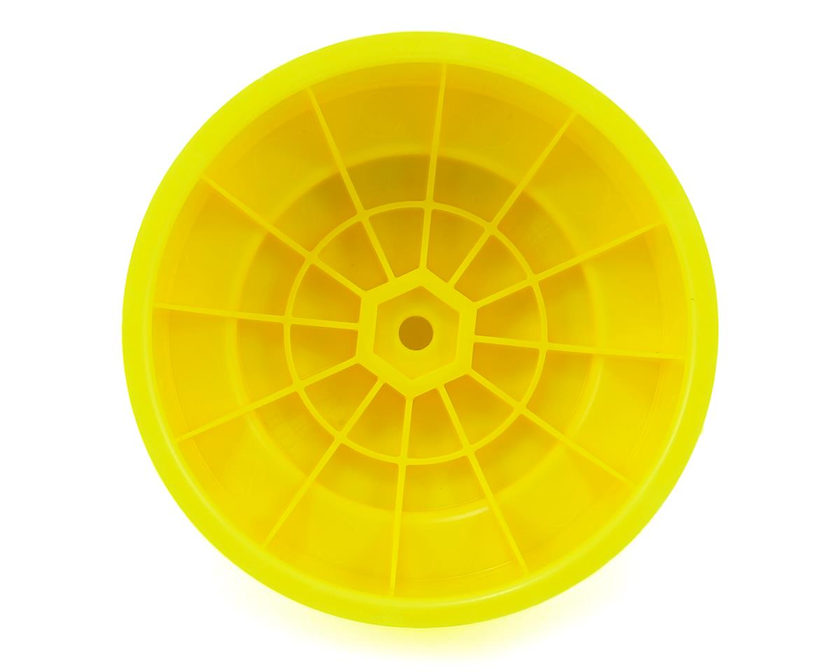 "Image 2 for DE Racing 12mm Hex ""Borrego"" Short Course Wheels w/3mm Offset (Yellow) (4)"