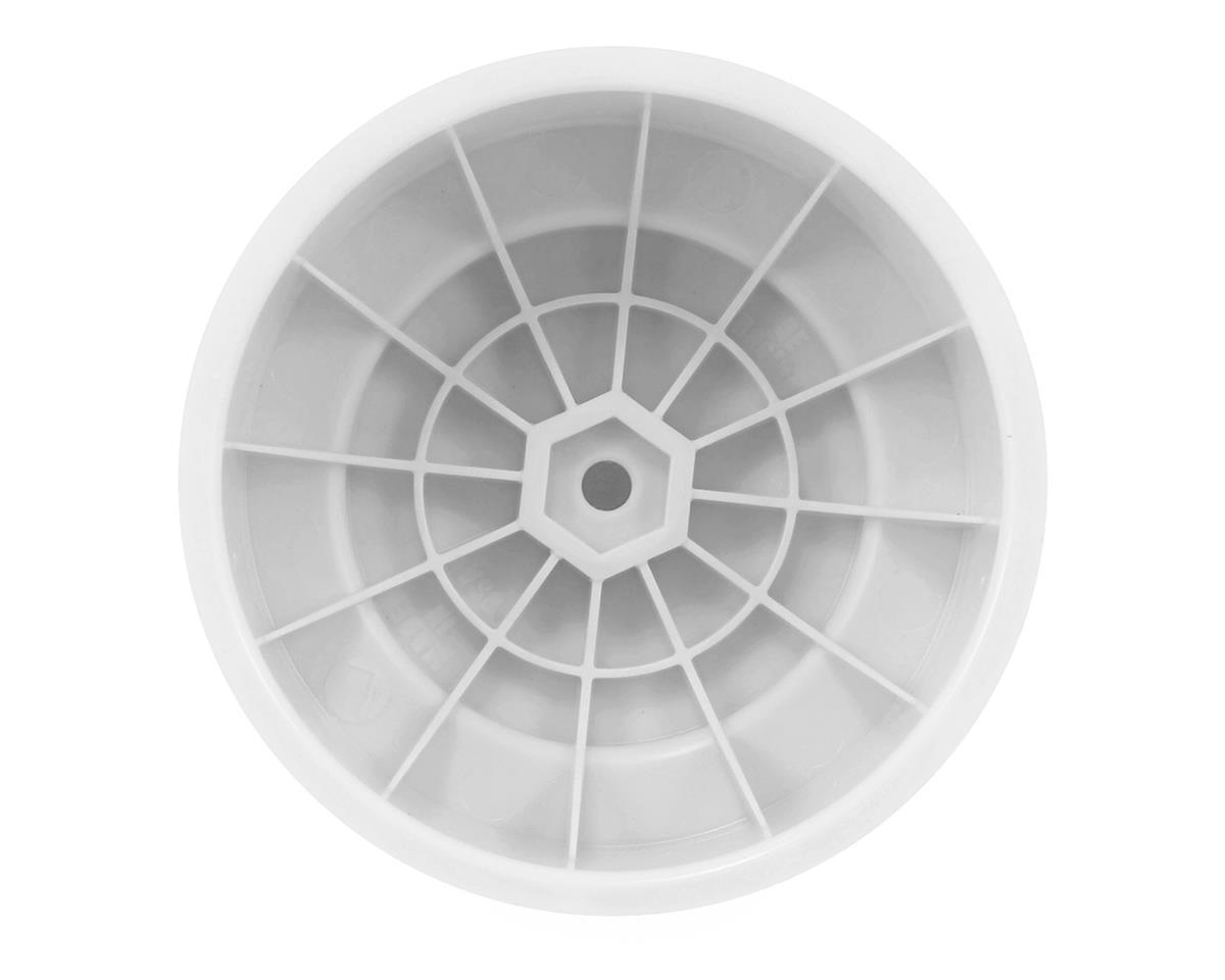 "DE Racing 12mm Hex ""Borrego"" Short Course Wheels (White) (4) (22SCT/TEN-SCTE)"
