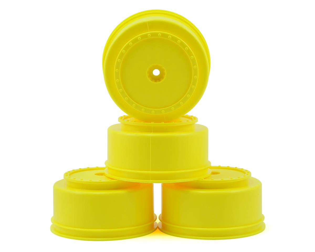 "DE Racing 12mm Hex ""Borrego"" Short Course Wheels (Yellow) (4) (22SCT/TEN-SCTE) 