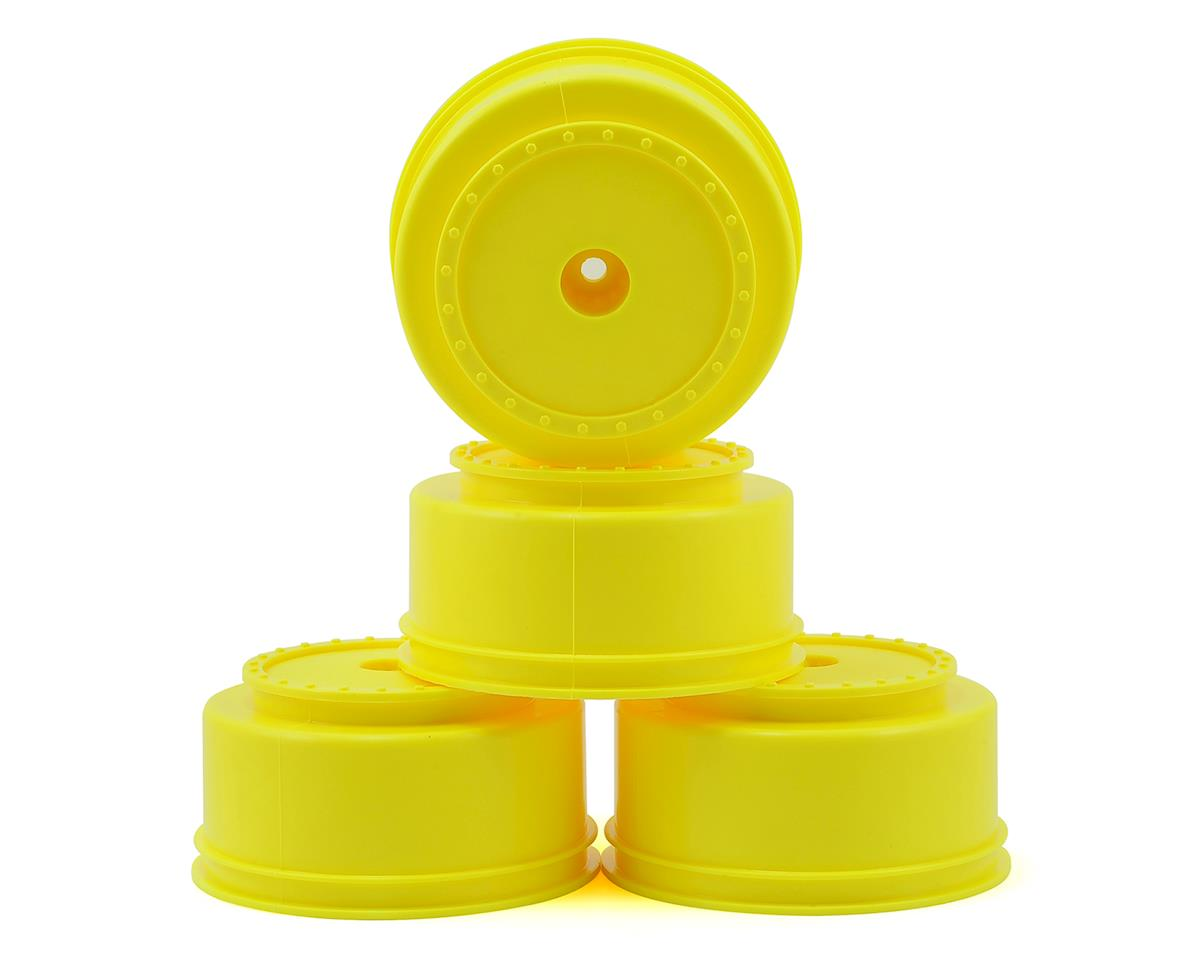 "DE Racing 12mm Hex ""Borrego"" Short Course Wheels (Yellow) (4) (SC6/Slash/Blitz) (Traxxas Rally)"
