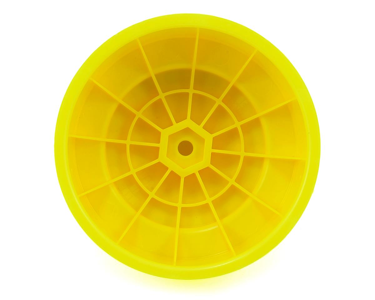 "Image 2 for DE Racing 12mm Hex ""Borrego"" Short Course Wheels (Yellow) (4) (SC6/Slash/Blitz)"