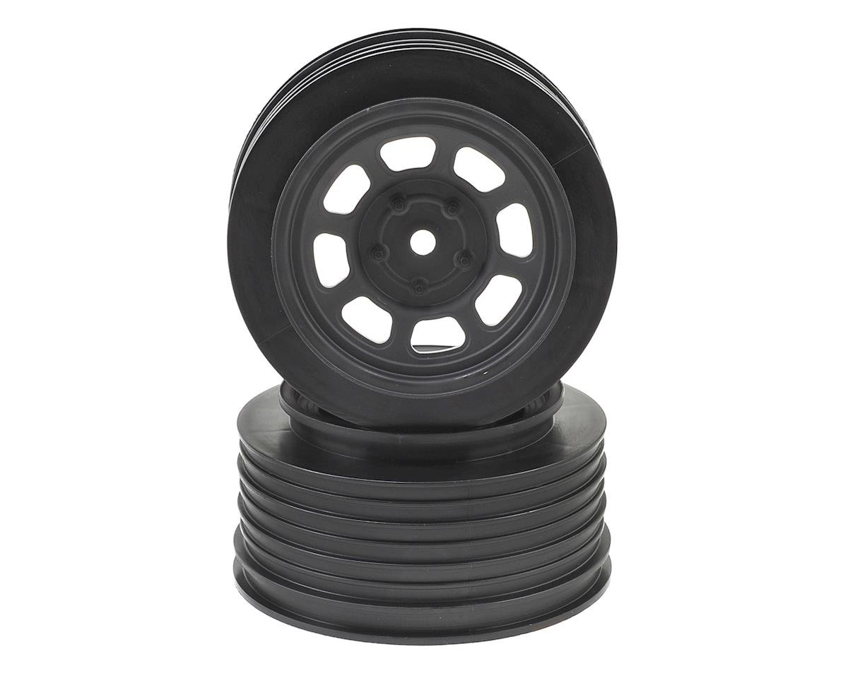 DE Racing Speedway SC Dirt Oval Wheels (Black) (2) (+3mm Offset/29mm Backspace) (Team Associated ProRally)